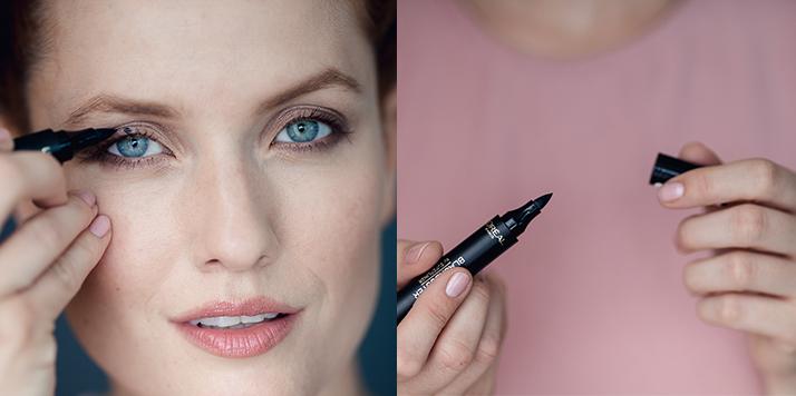 očná linka pre bodkovaný makeup