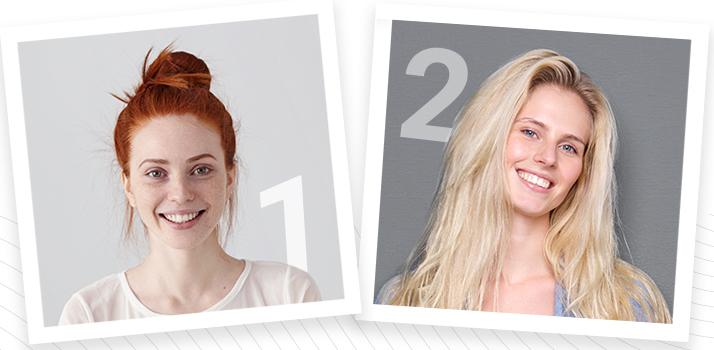 výsledky testu: fototyp 1 a 2