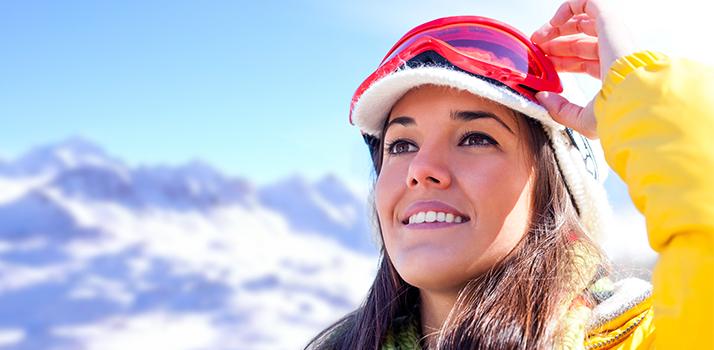 líčenie v zime na horách