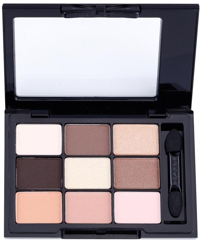 NYX Cosmetics Love in Paris paleta očných tieňov s aplikátorom